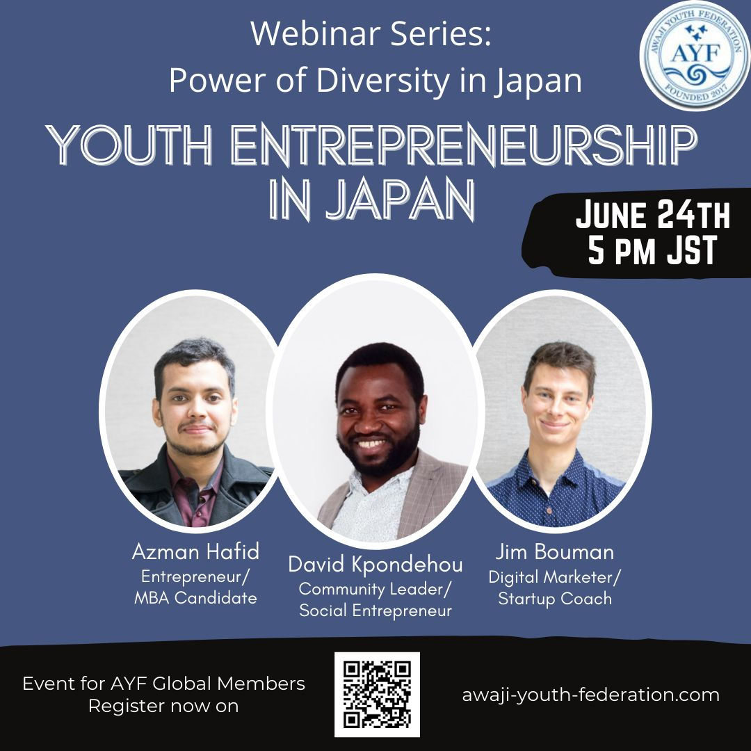 [Webinar Youth Series] Entrepreneurship in Japan